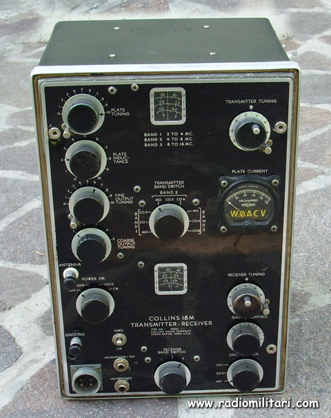 Radio Receiver And Transmitter TCH Collins 18 M 18m